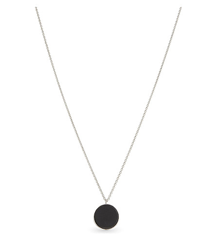TOM WOOD Small black onyx sterling silver medallion (Blackonyx