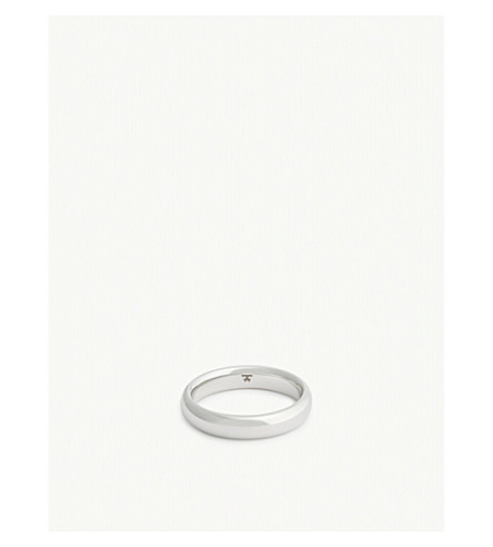 TOM WOOD Classic sterling silver band ring (Silver