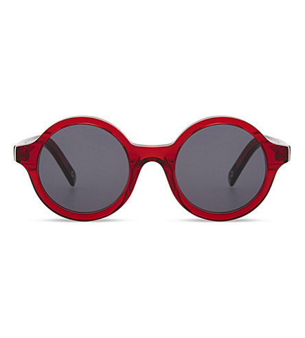 DICK MOBY Round frame sunglasses (Red