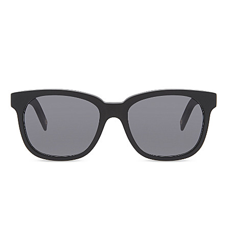 DICK MOBY Matte recycled black square frame sunglasses (Black