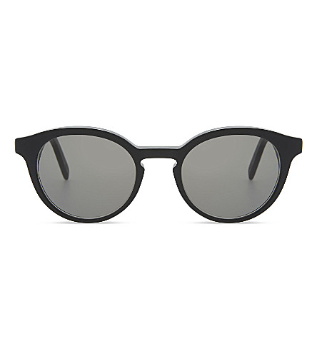 DICK MOBY Recycled black round frame sunglasses (Black