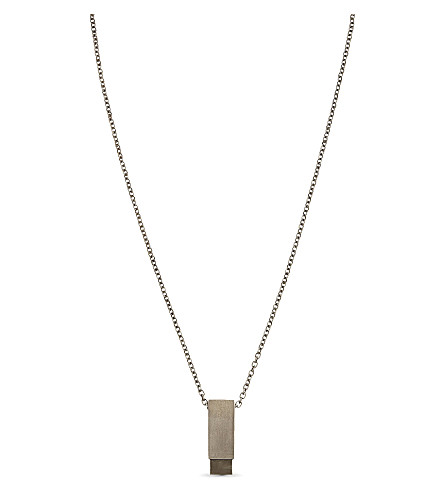 PARTS OF FOUR Amulet Cuboid pyrite necklace (Silver