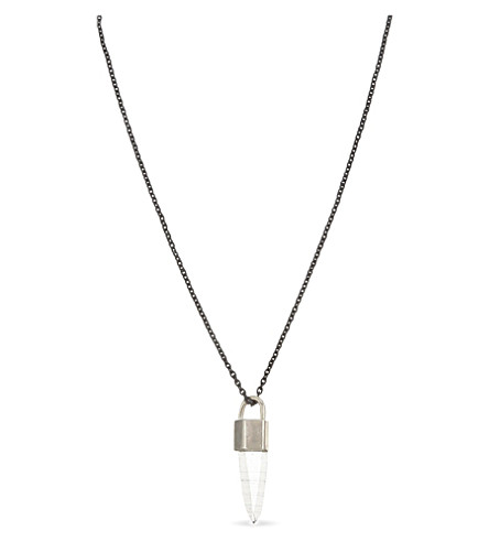 PARTS OF FOUR Talisman Lemurian Quartz necklace 15g (Silver