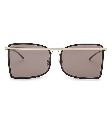 CALVIN KLEIN 205W39NYC Square-frame metallic sunglasses (Black