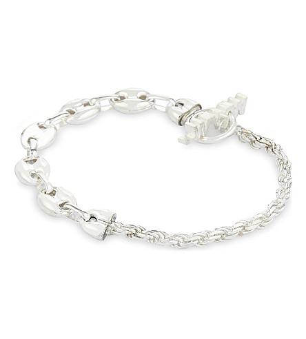 WWW.WILL SHOTT Split silver chain bracelet (Silver
