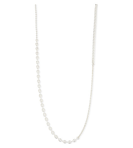 WWW.WILL SHOTT Medium split chain silver necklace (Silver