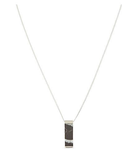 WWW.WILL SHOTT Marble pendant necklace (Silver