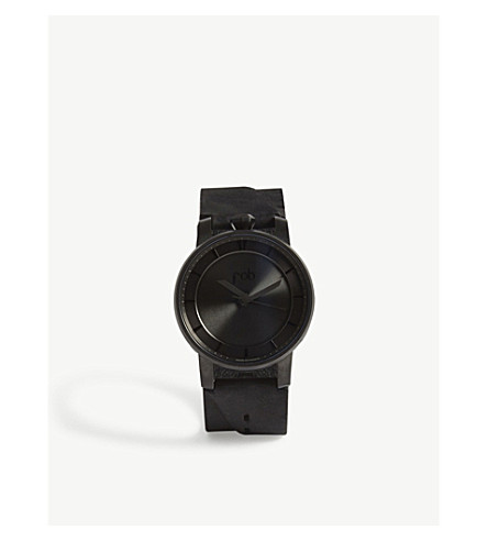 FOB PARIS Rehab 360 solid face watch (Black+matte+black