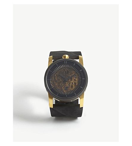 FOB PARIS Rehab 413 open-face watch (Gold