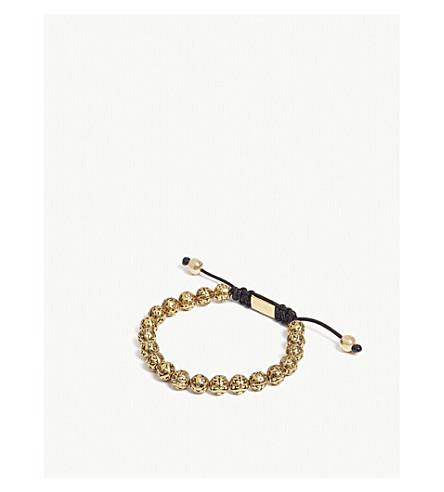 NIALAYA印第安标志珠手链 (金 + 黑