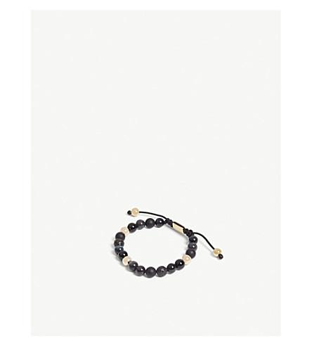 NIALAYA玛瑙, 玛瑙, 黑玉和蓝虎眼珠手链 (灰色 + 多