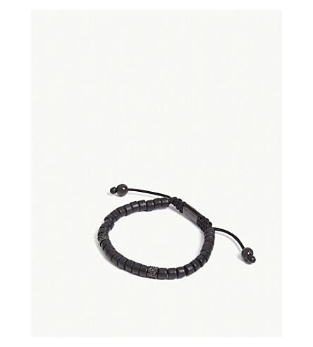 NIALAYA 坎昆陶瓷和黑色 CZ 珠手链 (黑色 + 黑色