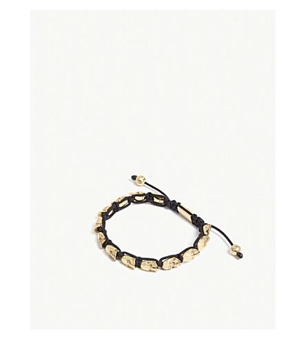 NIALAYA骷髅珠手链 (金 + 黑