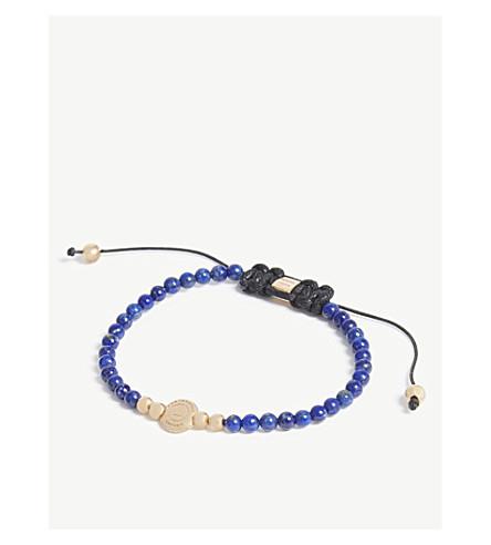 NORTHSKULL Disc macrame bracelet (Lapis