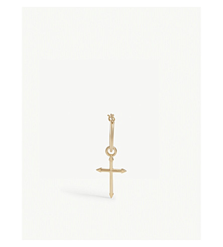 NORTHSKULL POINTED CROSS HOOP EARRING