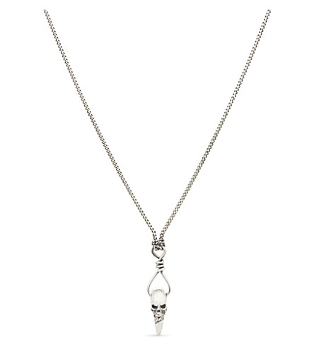 EMANUELE BICOCCHI Skull tooth sterling silver necklace (Silver