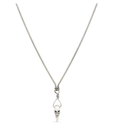 EMANUELE BICOCCHI骷髅齿纯银项链 (银色