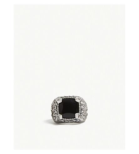 EMANUELE BICOCCHI玛瑙火焰纯银环 (黑色