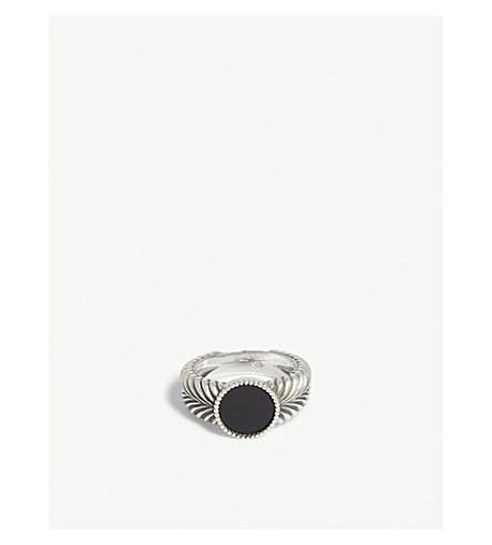 EMANUELE BICOCCHI Gem-embellished feather silver ring