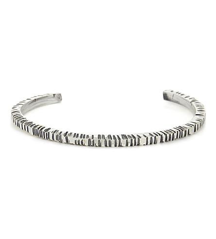 EMANUELE BICOCCHI Hand-carved sterling silver cuff (Silver