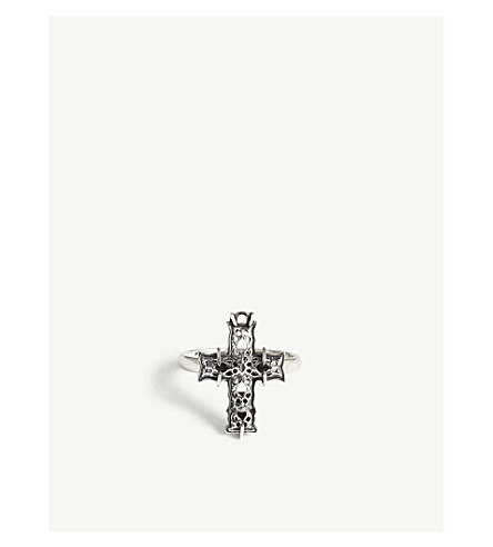 EMANUELE BICOCCHI Sterling silver cross ring (Silver