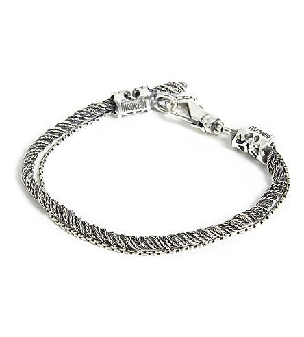 EMANUELE BICOCCHI编织双手链 (银色