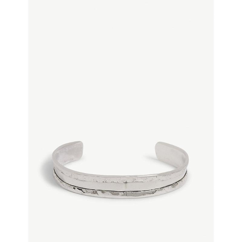 EMANUELE BICOCCHI Hammered edge silver cuff