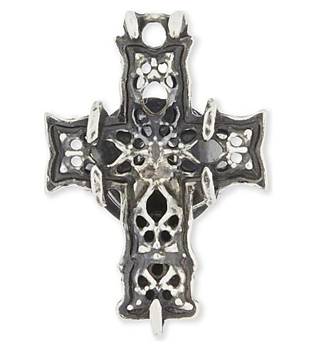 EMANUELE BICOCCHI Sterling silver cross earring (Silver