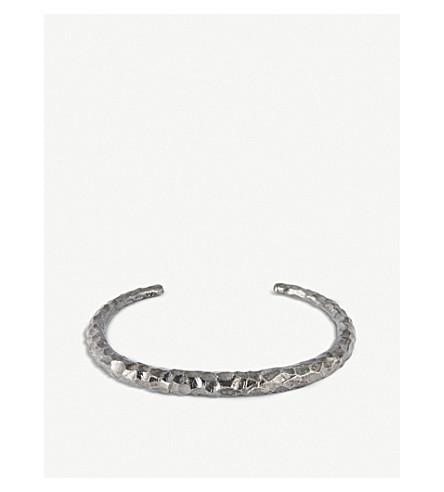 ALL BLUES Fat Snake sterling silver carved bracelet (Black