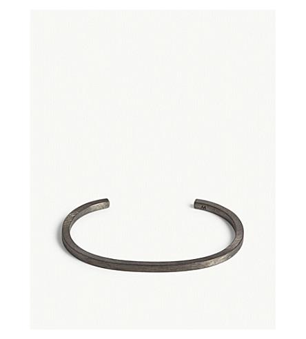 ALL BLUES Square brushed sterling silver bracelet (Black