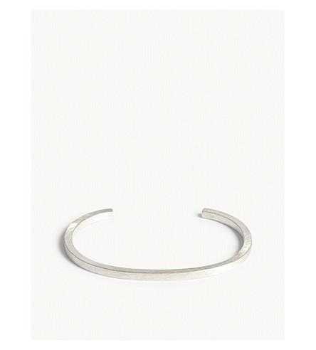 ALL BLUES Square brushed bracelet (Silver