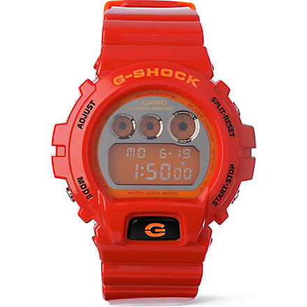 G-SHOCK DW6900CB 6900 series watch (Red
