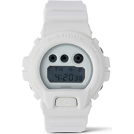 G-SHOCK DW6900WW Whiteout watch (White
