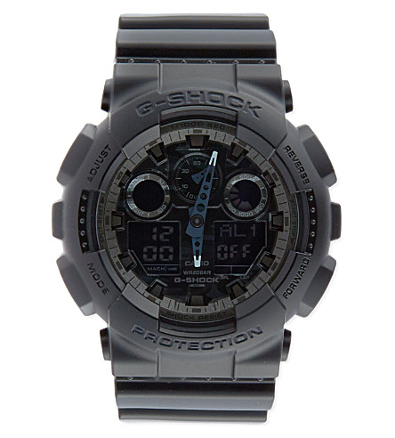 G-SHOCK Camouflage watch (Black/silver