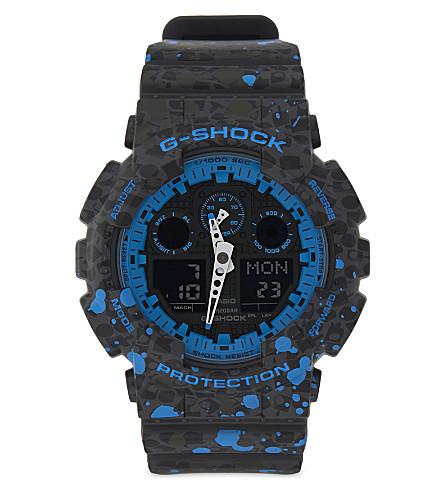 G-SHOCK GA100ST-2A Stash watch (Black/blue