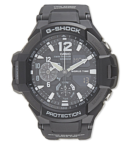 G-SHOCK GA1100-1AER world time watch (Black