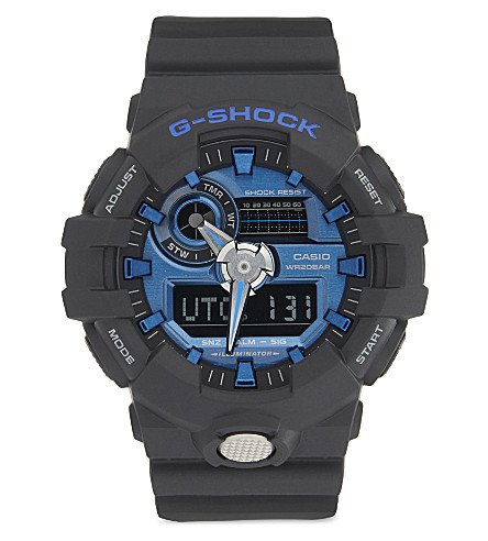 G-SHOCK GA-710-1A2ER watch (Black/blue