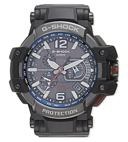 G-SHOCK GPW1000-1A Gravitymaster watch (Black/blue