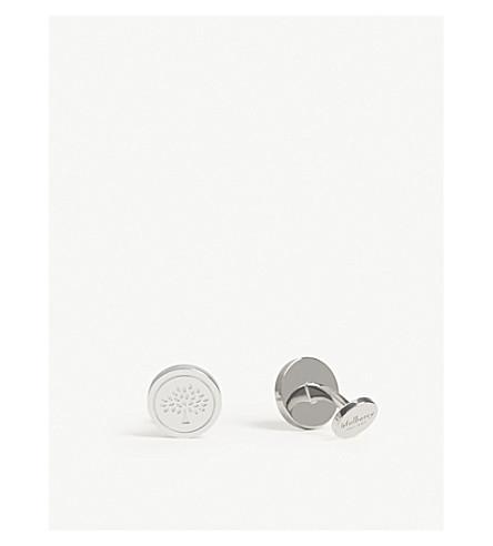 MULBERRY Round tree cufflinks (Silver
