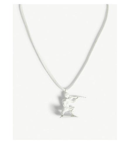 MAISON MARGIELA Toy soldier necklace (White
