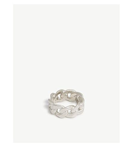 MAISON MARGIELA Silver chain ring (Silver