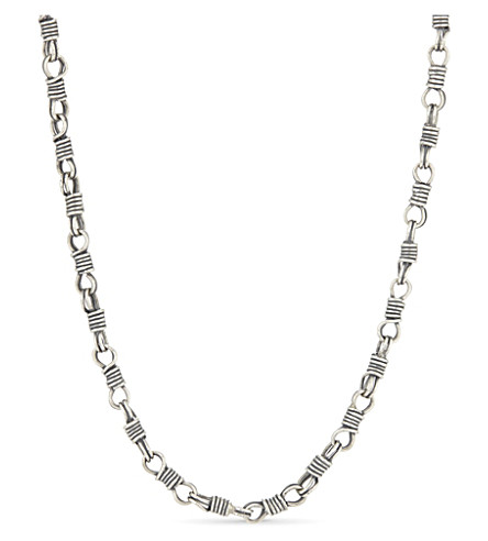 MAISON MARGIELA Chain link silver necklace (Natural+old+silver
