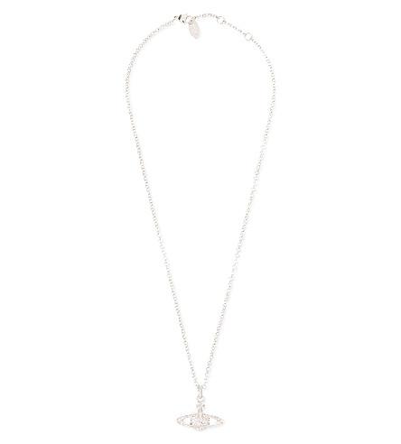 VIVIENNE WESTWOOD Diamante orb pendant (Rhodium