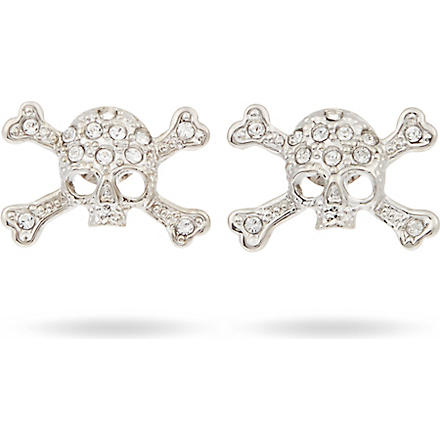 VIVIENNE WESTWOOD Diamante skull earrings (Rhodium