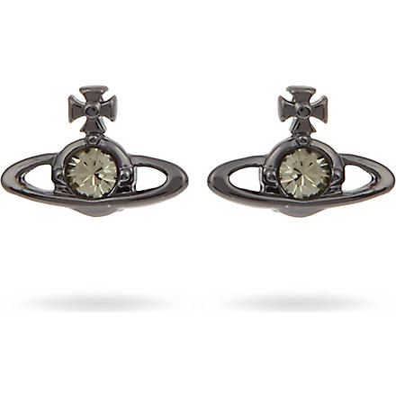 VIVIENNE WESTWOOD Nano solitaire earrings (Gunmetal