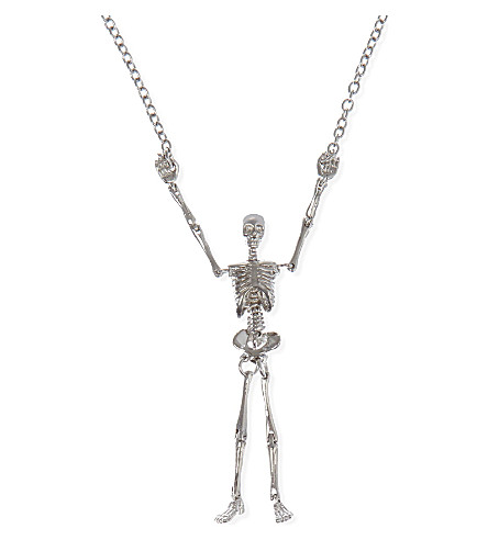 VIVIENNE WESTWOOD Long skeleton necklace (Palladium