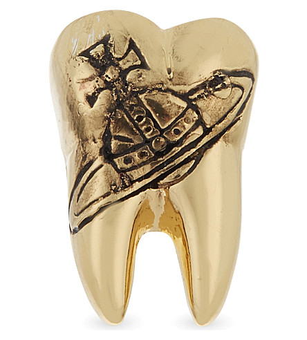 VIVIENNE WESTWOOD Blake single tooth stud (Gold