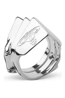 VIVIENNE WESTWOOD Knuckleduster sterling silver ring