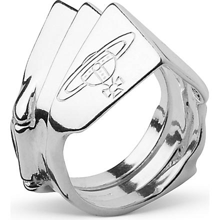 VIVIENNE WESTWOOD Knuckleduster sterling silver ring (Silver