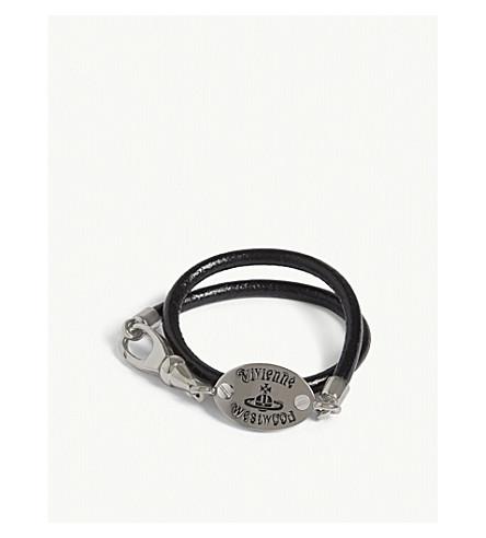 VIVIENNE WESTWOOD Frederic wrap bracelet (Silver